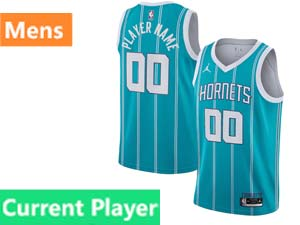 Mens Nba Charlotte Hornets Current Player Jordan Brand 2020 Nba Draft First Round Pick Teal Icon Edition Swingman Jersey