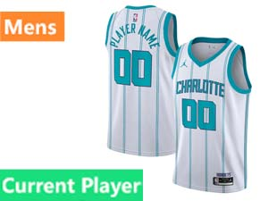 Mens Nba Charlotte Hornets Current Player Jordan Brand 2020 Fast Break Association Edition White Swingman Jersey