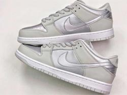 Mens Nike Dunk Low Pro Sb Running Shoes Silvery Grey Color