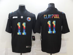 Mens Nfl Pittsburgh Steelers #11 Chase Claypool Black Rainbow Vapor Untouchable Limited Nike Jersey