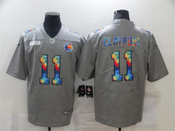 Mens Nfl Pittsburgh Steelers #11 Chase Claypool Gray Rainbow Vapor Untouchable Limited Nike Jersey