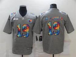 Mens Nfl Pittsburgh Steelers #19 Juju Smith-schuster Gray Rainbow Vapor Untouchable Limited Nike Jersey