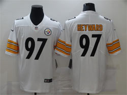 Mens Pittsburgh Steelers #97 Cameron Heyward White Vapor Untouchable Limited Nike Jersey