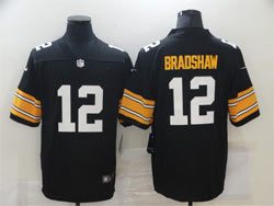 Mens Nfl Pittsburgh Steelers #12 Terry Bradshaw Black Big Number Vapor Untouchable Limited Nike Jersey