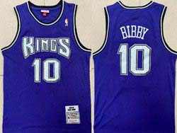 Mens Nba Sacramento Kings #10 Mike Bibby Purple 2001-02 Mitchell&ness Hardwood Classics Jersey