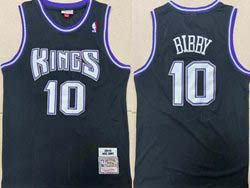 Mens Nba Sacramento Kings #10 Mike Bibby Black 2001-02 Mitchell&ness Hardwood Classics Jersey