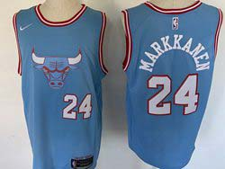 Mens Nba Chicago Bulls #24 Lauri Markkanen Blue 2019-20 City Edition Swingman Nike Jersey