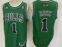 Mens Nba Chicago Bulls #1 Rose Green Adidas Jersey