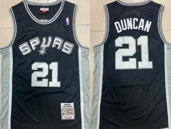 Mens Nba San Antonio Spurs Spurs #21 Tim Duncan Black 1998-99 Mitchell&ness Hardwood Classics Swingman Jersey