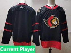 Mens Nhl Ottawa Senators Current Player Black 2021 Reverse Retro Alternate Adidas Jersey