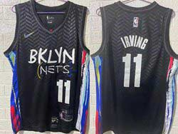 Mens Nba Brooklyn Nets #11 Kyrie Irving Black 2020-21 City Edition Nike Swingman Jersey