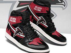 Mens And Women Nfl Atlanta Falcons High Football Shoes One Color