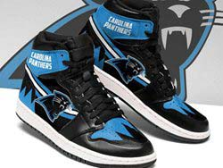 Mens And Women Nfl Carolina Panthers High Football Shoes One Color