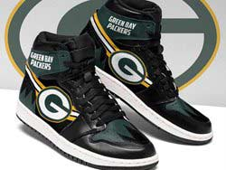 Mens And Women Nfl Green Bay Packers High Football Shoes One Color