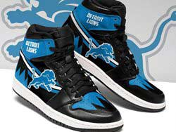 Mens And Women Nfl Detroit Lions High Football Shoes One Color