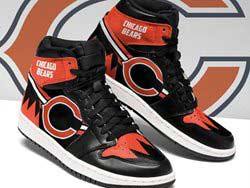 Mens And Women Nfl Chicago Bears High Football Shoes One Color