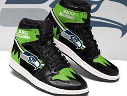 Mens And Women Nfl Seattle Seahawks High Football Shoes One Color