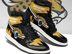 Mens And Women Nfl Jacksonville Jaguars High Football Shoes One Color