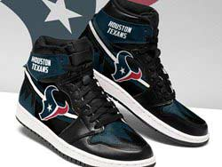 Mens And Women Nfl Houston Texans High Football Shoes One Color