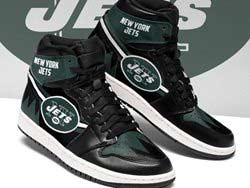 Mens And Women Nfl New York Jets High Football Shoes One Color