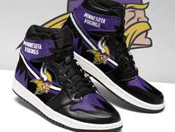 Mens And Women Nfl Minnesota Vikings High Football Shoes One Color
