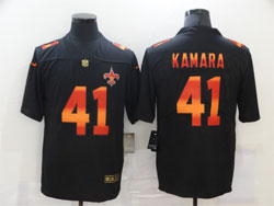 Mens Nfl New Orleans Saints #41 Alvin Kamara Black Colorful Vapor Untouchable Limited Nike Jersey