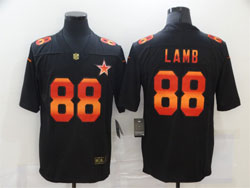Mens Nfl Dallas Cowboys #88 Ceedee Lamb Black Colorful Vapor Untouchable Limited Nike Jersey