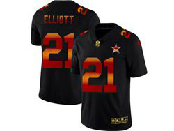 Mens Nfl Dallas Cowboys #21 Ezekiel Elliott Black Colorful Vapor Untouchable Limited Nike Jersey