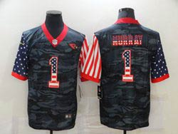 Mens Nfl Arizona Cardinals #1 Kyler Murray 2020 Camo Usa Flag Salute To Service Limited Nike Jersey