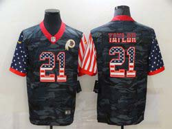 Mens Nfl Washington Redskins #21 Sean Taylor 2020 Camo Usa Flag Salute To Service Limited Nike Jersey