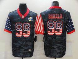 Mens Nfl Los Angeles Rams #99 Aaron Donald 2020 Camo Usa Flag Salute To Service Limited Nike Jersey