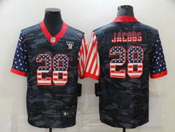Mens Nfl Las Vegas Raiders #28 Josh Jacobs 2020 Camo Usa Flag Salute To Service Limited Nike Jersey
