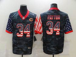 Mens Nfl Chicago Bears #34 Walter Payton 2020 Camo Usa Flag Salute To Service Limited Nike Jersey