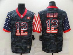 Mens Nfl Tampa Bay Buccaneers #12 Tom Brady 2020 Camo Usa Flag Salute To Service Limited Nike Jersey
