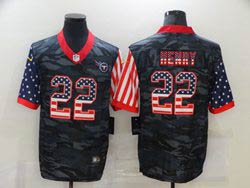Mens Nfl Tennessee Titans #22 Derrick Henry 2020 Camo Usa Flag Salute To Service Limited Nike Jersey