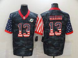 Mens Miami Dolphins #13 Dan Marino 2020 Camo Usa Flag Salute To Service Limited Nike Jersey