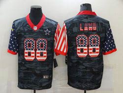 Mens Nfl Dallas Cowboys #88 Ceedee Lamb 2020 Camo Usa Flag Salute To Service Limited Nike Jersey