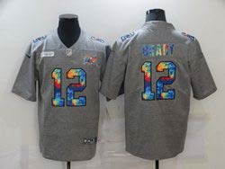 Mens Nfl Tampa Bay Buccaneers #12 Tom Brady Gray Rainbow Vapor Untouchable Limited Nike Jersey