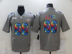 Mens Nfl Dallas Cowboys #88 Ceedee Lamb Gray Rainbow Vapor Untouchable Limited Nike Jersey