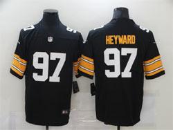 Mens Nfl Pittsburgh Steelers #97 Cameron Heyward Black Big Number Vapor Untouchable Limited Nike Jersey