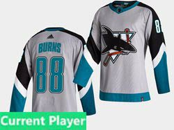 Mens Nhl San Jose Sharks Alternate Current Player White 2021 Reverse Retro Alternate Adidas Jersey