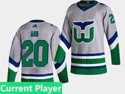 Mens Nhl Hartford Whalers Current Player White 2021 Reverse Retro Alternate Adidas Jersey
