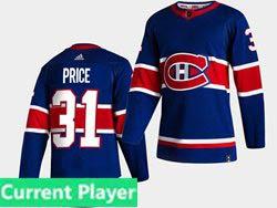 Mens Nhl Adidas Montreal Canadiens Current Player Blue 2021 Reverse Retro Alternate Adidas Jersey