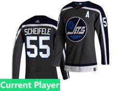 Mens Nhl Winnipeg Jets Current Player Black 2021 Reverse Retro Alternate Adidas Jersey