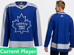 Mens Nhl Toronto Maple Leafs Current Player Blue 2021 Reverse Retro Alternate Adidas Jersey