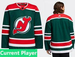Mens Nhl New Jersey Devils Current Player Green 2021 Reverse Retro Alternate Adidas Jersey