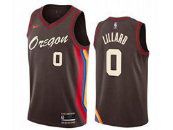 Mens New Nba Portland Trail Blazers #0 Damian Lillard Black 2020-21 City Edition Nike Swingman Jersey