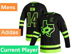 Mens Nhl Dallas Stars Current Player Black Adidas 2020-21 Alternate Jersey