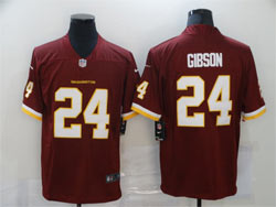Mens Nfl Washington Redskins #24 Gibson Red Vapor Untouchable Football Team Nike Jersey
