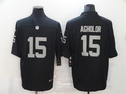 Mens Nfl Las Vegas Raiders #15 Nelson Agholor Black Vapor Untouchable Limited Nike Jersey